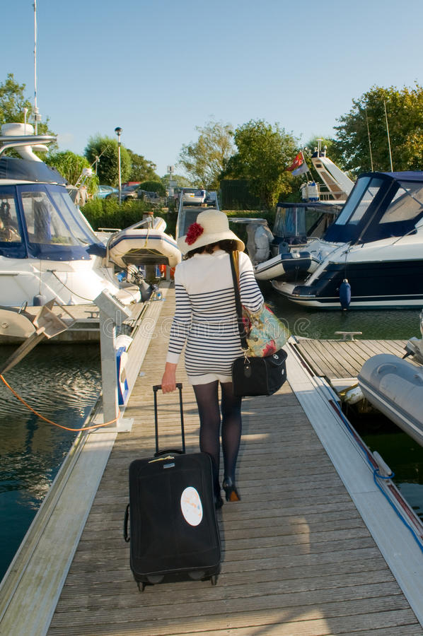 Download Nautical lady stock photo. Image of attractive, outdoors - 27612578