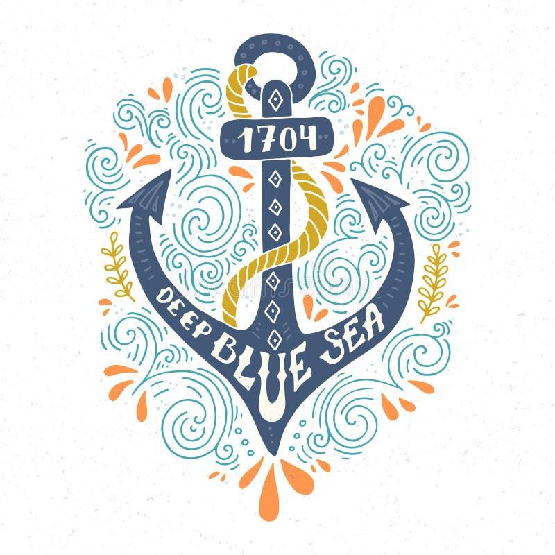Nautical Lettering vector illustration