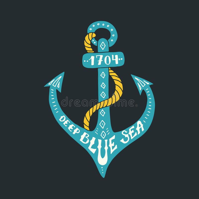 Nautical Lettering royalty free illustration