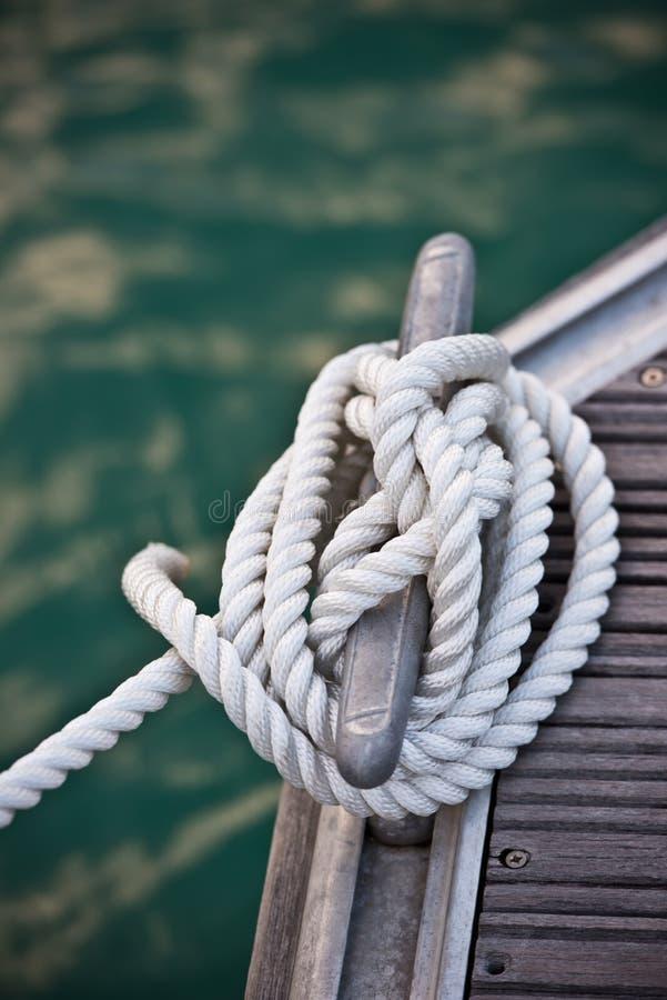 Nautical mooring rope stock photo