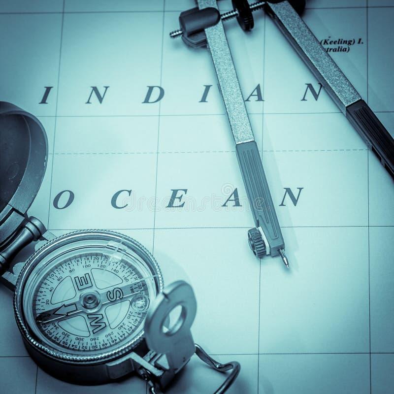 Nautical Navigation Square Format Stock Photo
