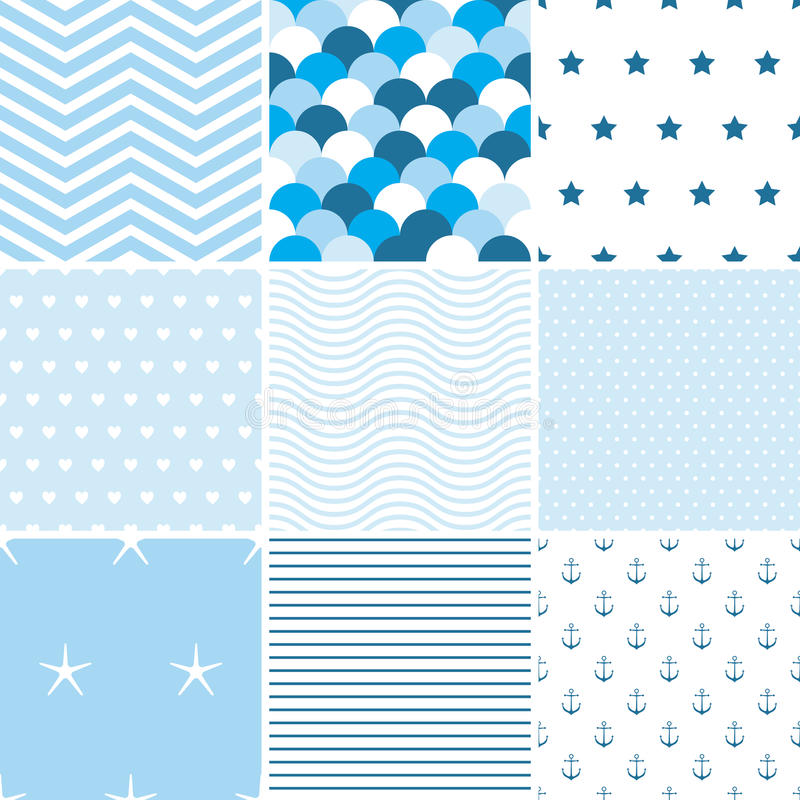 Nautical patterns royalty free stock photography
