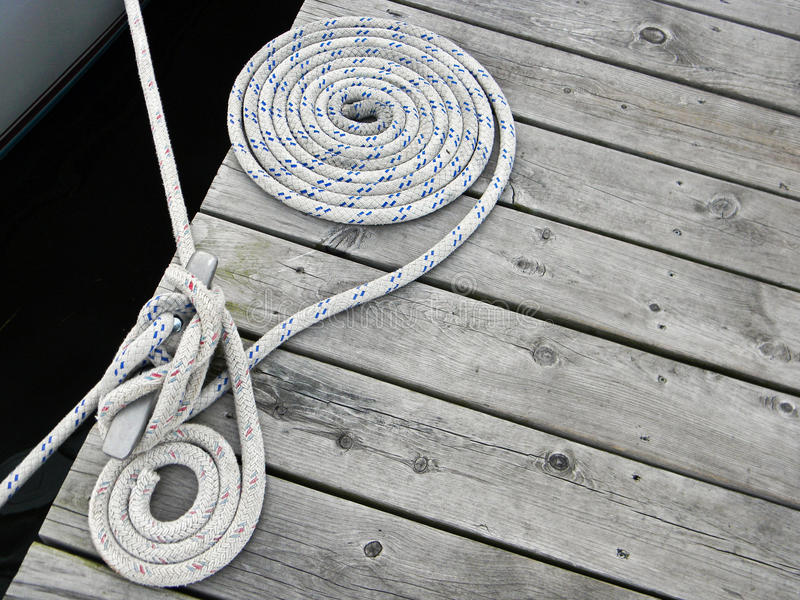 Nautical Rope stock image