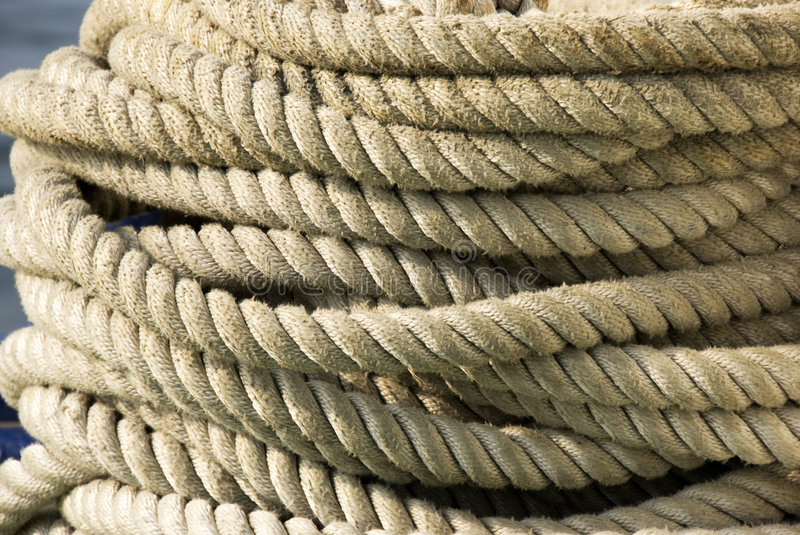 Nautical rope. Close up view of the rope background royalty free stock photos
