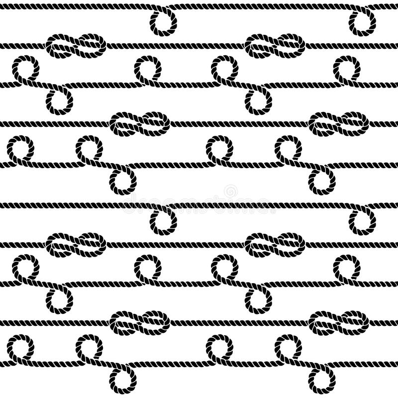 Free Nautical Ropes And Knots Vector Seamless Pattern Royalty Free Stock Images - 84409139