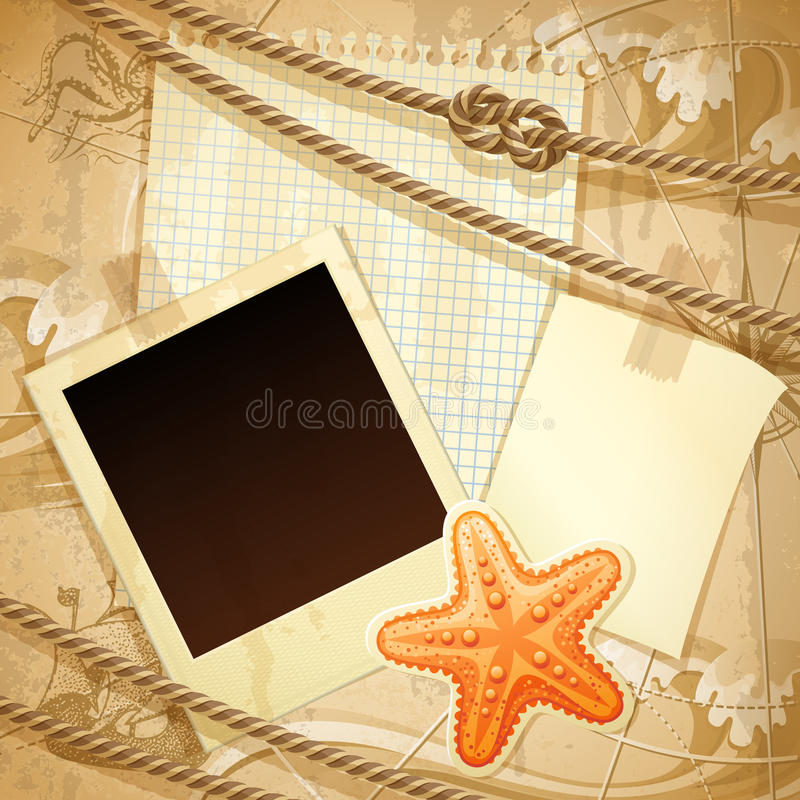 Download Nautical Scrapbook Template Stock Vector - Illustration: 25667741