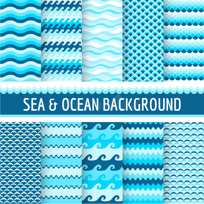 Free Nautical Sea Patterns Stock Image - 50868731