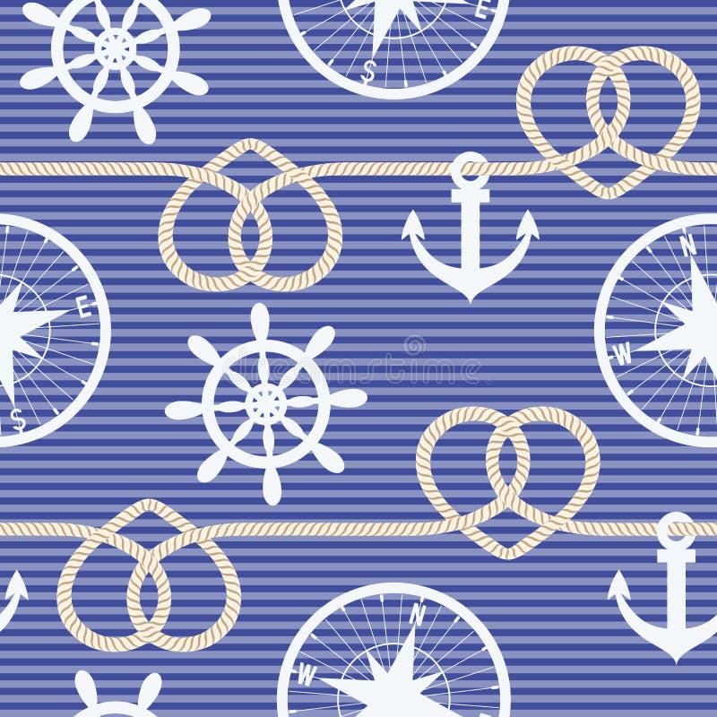 Nautical seamless pattern stock image