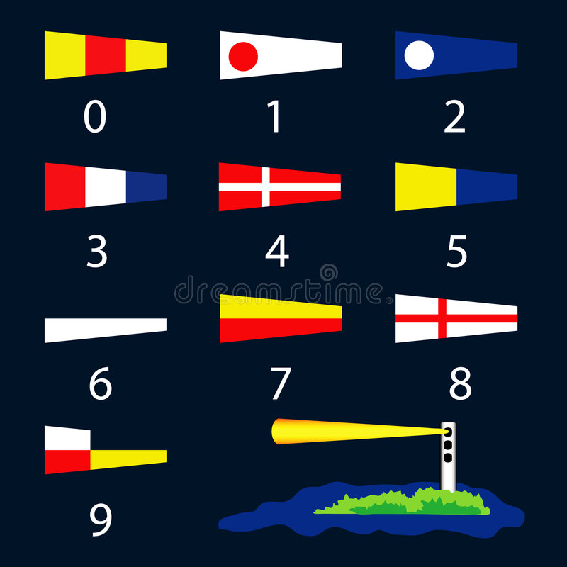 Download Nautical Signal Flags - Numbers Stock Vector - Image: 5416199