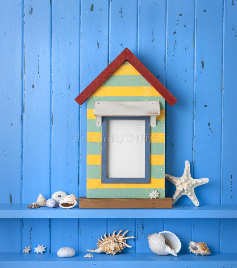 Seaside Picture Frame Background stock images