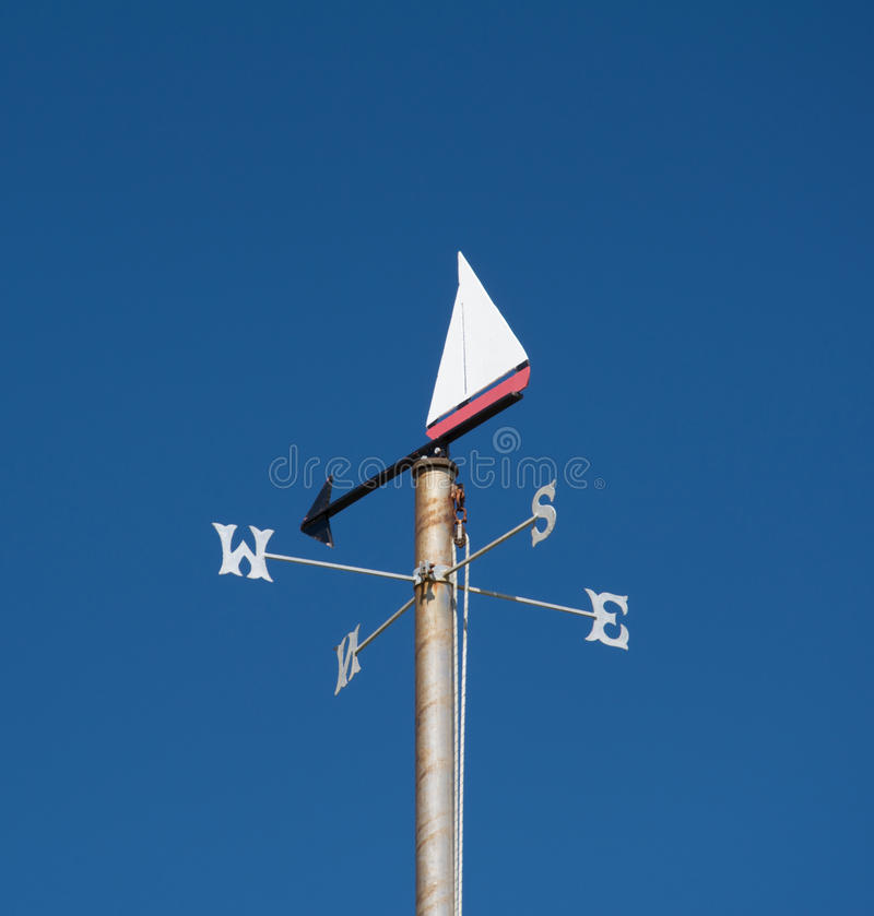 Free Nautical Themed Weather Vane Against Clear Blue Sky Stock Image - 52063431