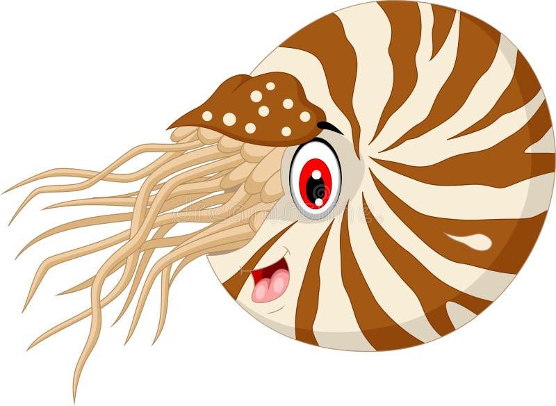 Nautilus Cartoon for you design. Illustration of Nautilus Cartoon for you design vector illustration