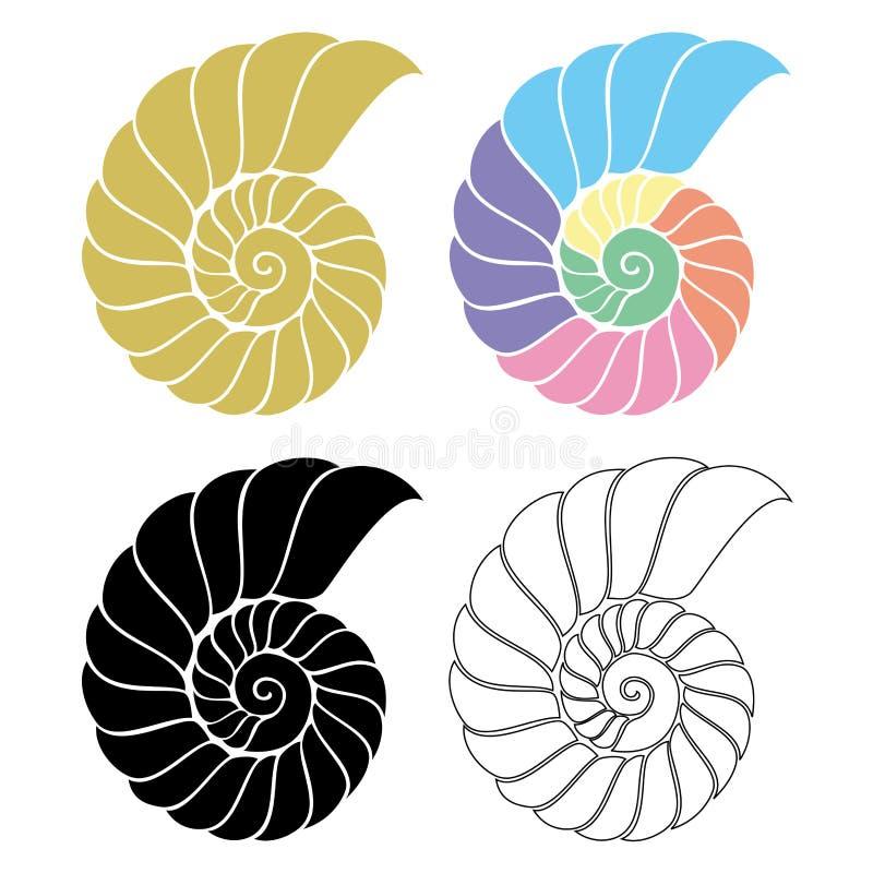 Nautilus de Seashell illustration stock