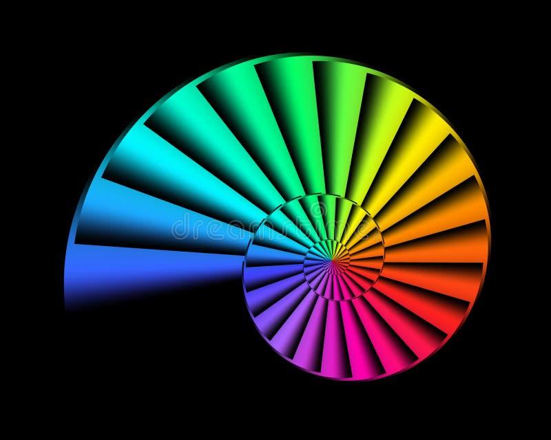 Nautilus dell'arcobaleno illustrazione di stock