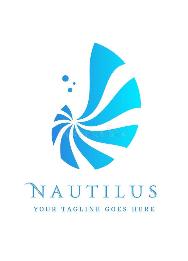 Nautilus-embleem exemplaar royalty-vrije illustratie