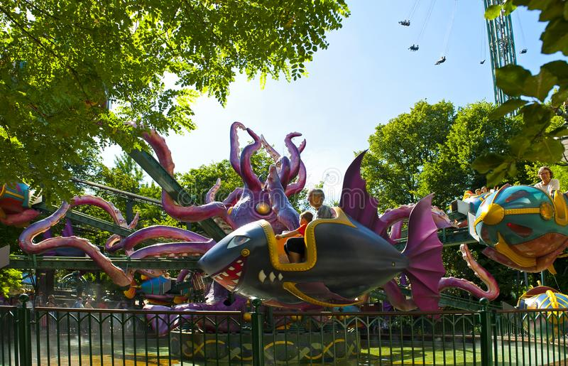 Nautilus - giant octopus in Tivoli in Copenhagen, Denmark stock photography