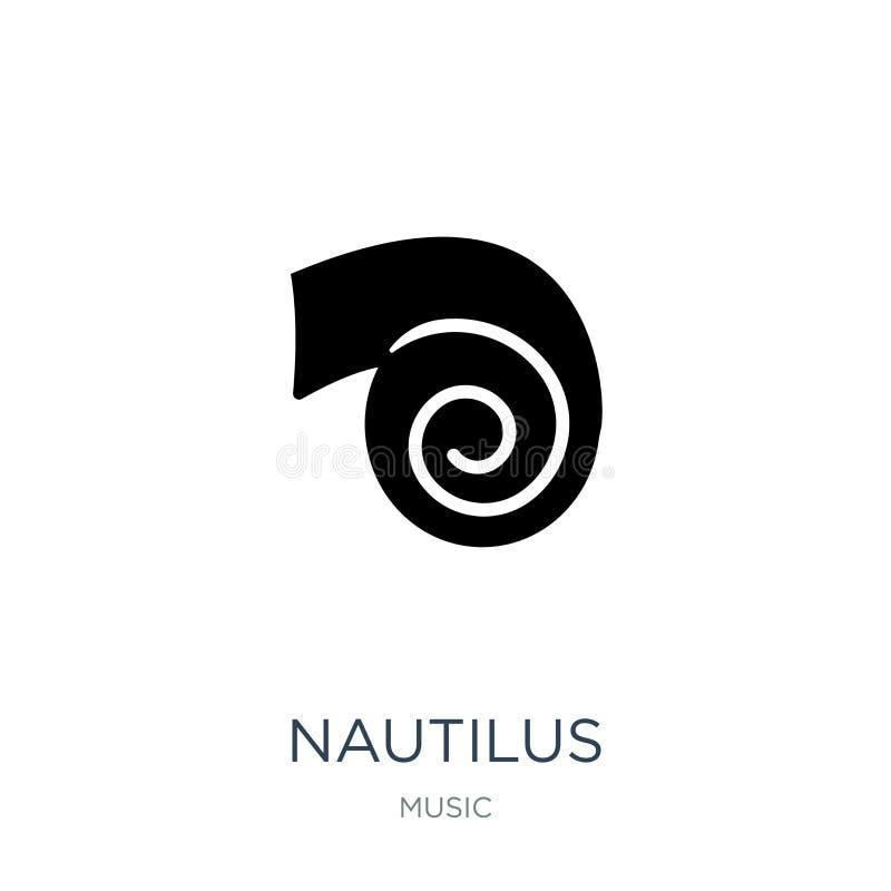 nautilus icon in trendy design style. nautilus icon isolated on white background. nautilus vector icon simple and modern flat vector illustration