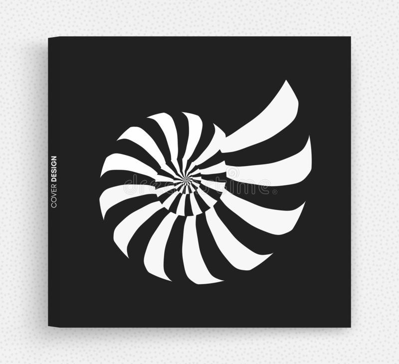 Nautilus Shell abstrakt designelement vektor f?r illustration 3d stock illustrationer