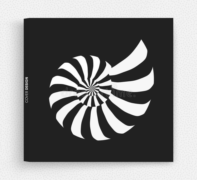 Nautilus Shell Het abstracte Element van het Ontwerp 3d vectorillustratie stock illustratie