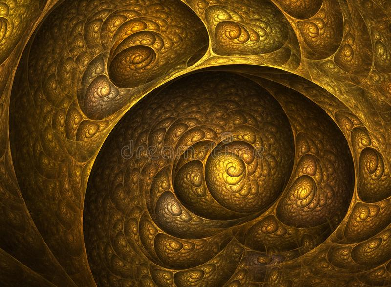 Nautilus Shell Spiral Fractal illustrazione vettoriale