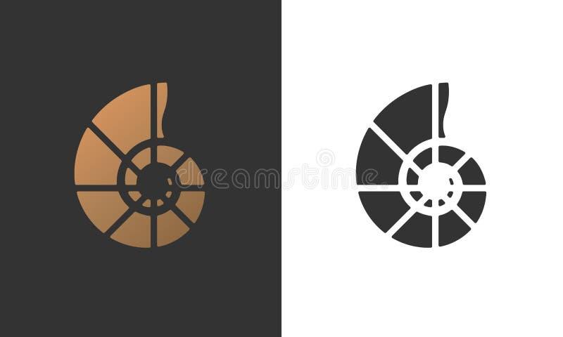 Nautilusexemplaar vector illustratie