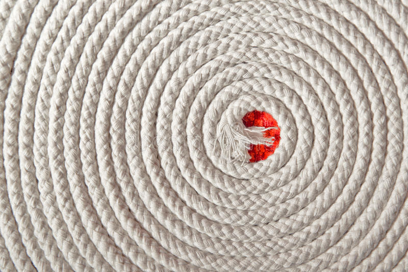Nautisch fangen Sie Spirale ein stockfoto
