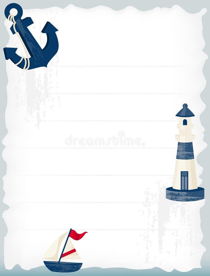 Nautisk bakgrund vektor illustrationer
