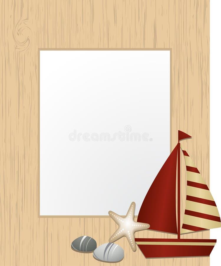 Download Nautisk bild för ram stock illustrationer. Illustration av flagga - 19781411
