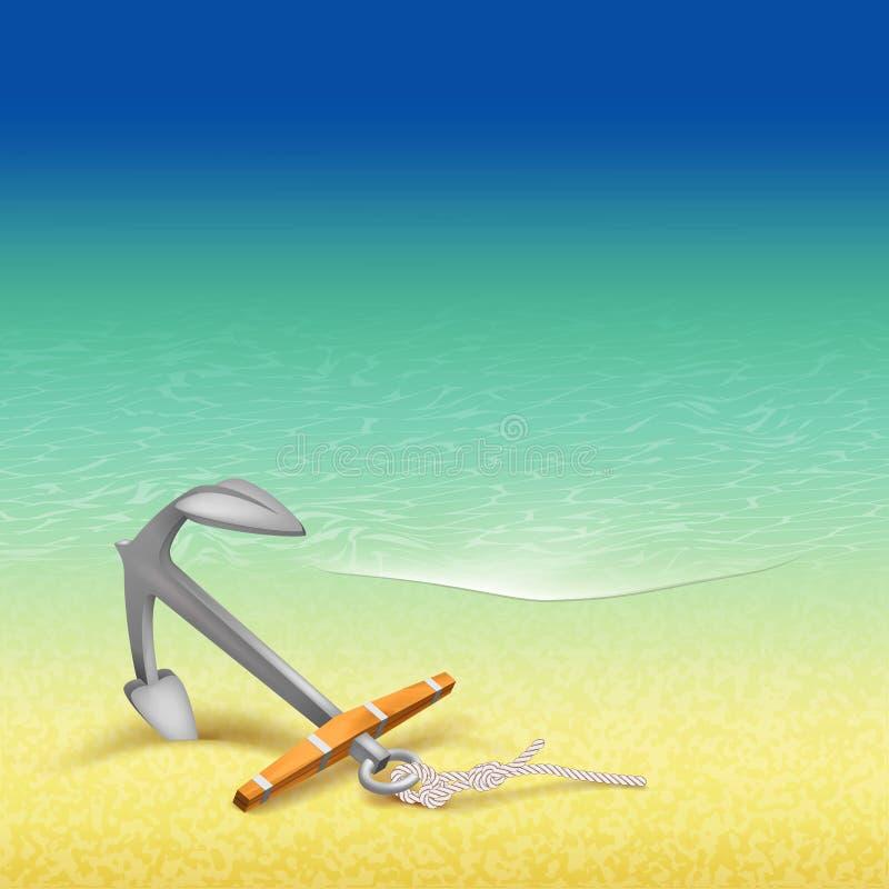 Nautisk design för sommarloppaffisch stock illustrationer
