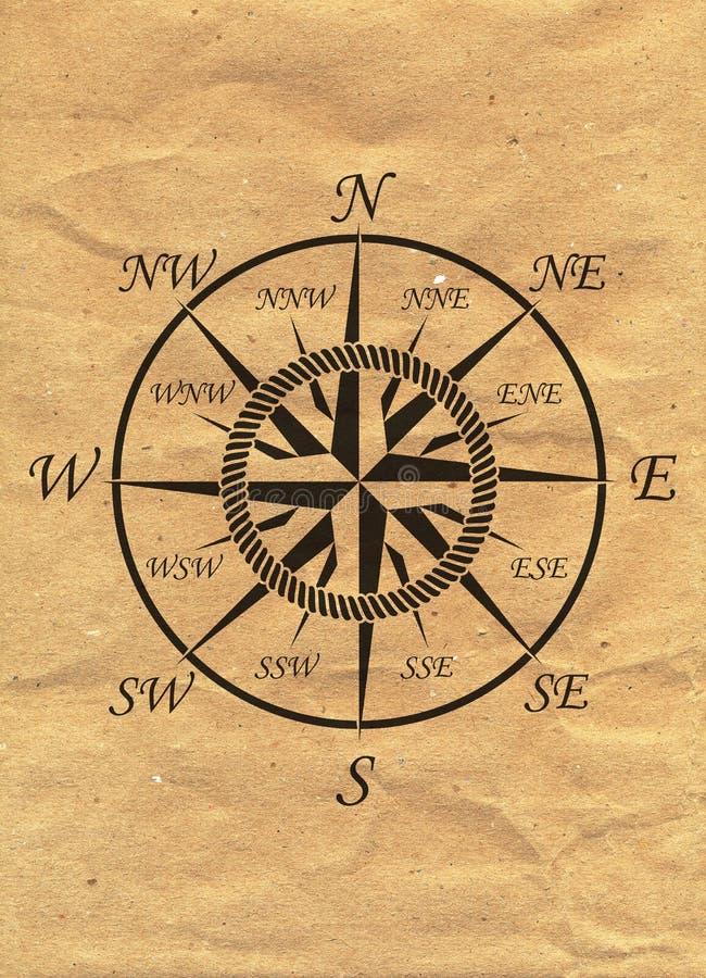 Nautisk logo på bakgrund för kraft papper Marine Label havsemblem vektor illustrationer
