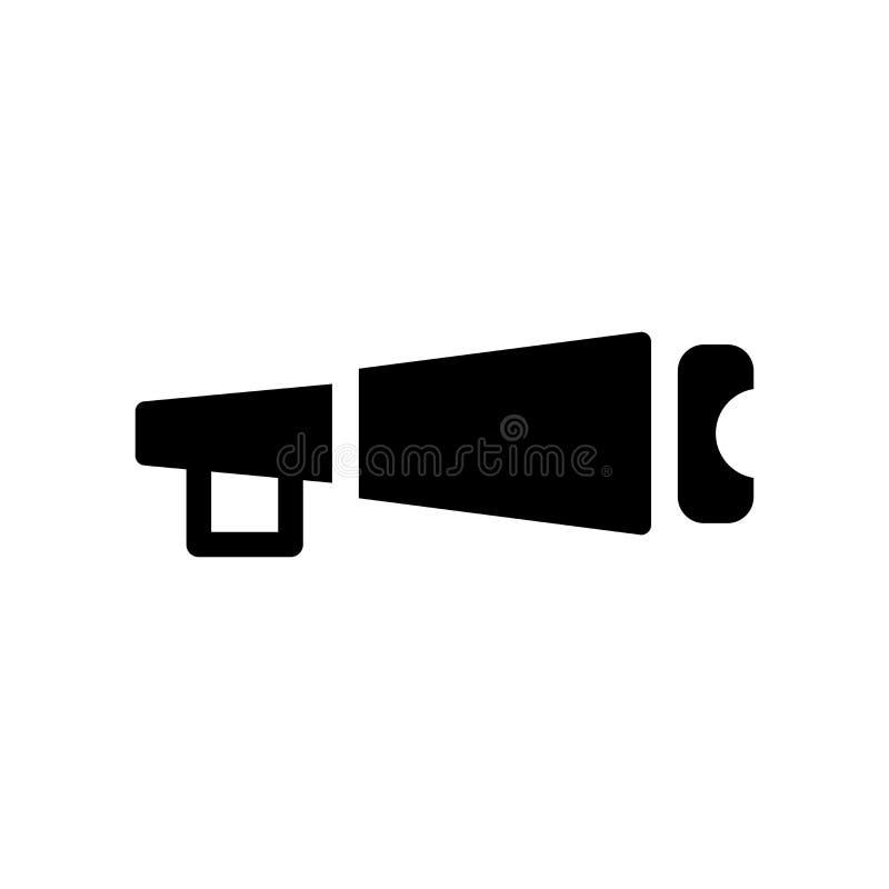 Nautisk Monocular symbol  stock illustrationer