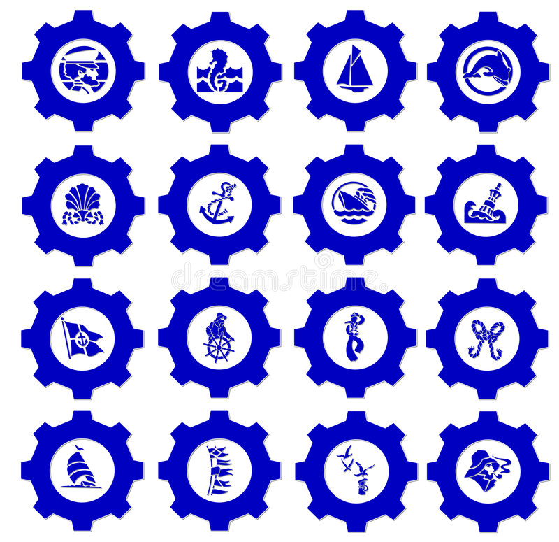 nautisk symbol royaltyfri illustrationer