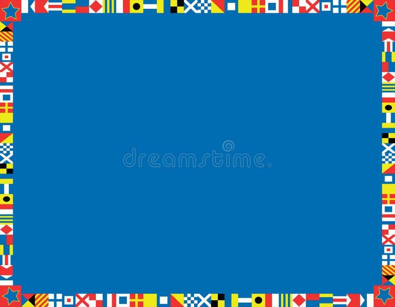 nautisk vektor för kantflagga vektor illustrationer