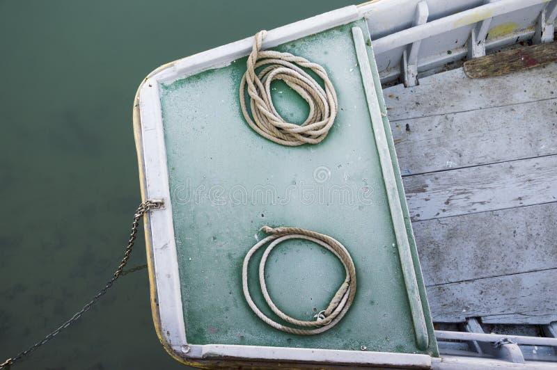 Nautiska förtöja rep fotografering för bildbyråer