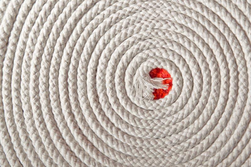 Nautiskt rep i spiral arkivfoto