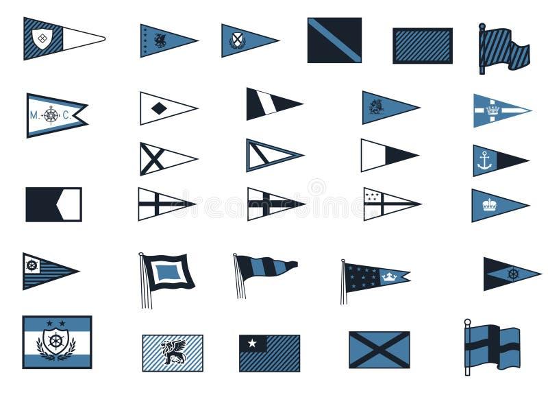 Nautyczne flaga ilustracji
