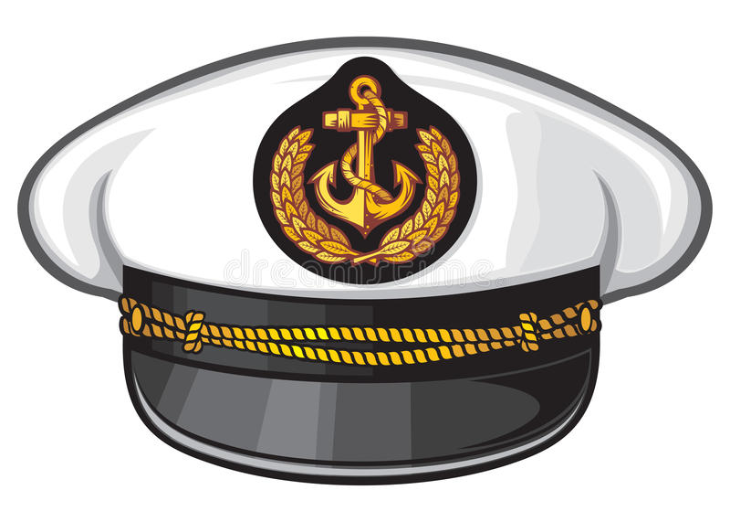 Kapitanu kapelusz ilustracja wektor