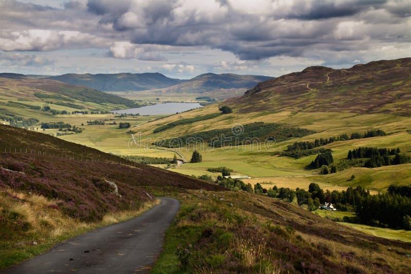 Nauwe vallei Quaich Schotland royalty-vrije stock afbeeldingen
