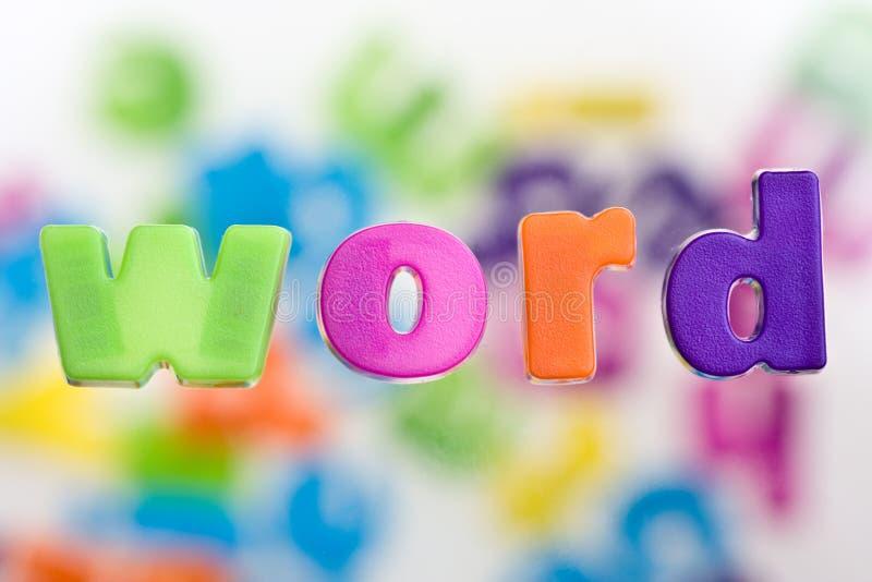 Nauwkeurig beschreven Word stock foto