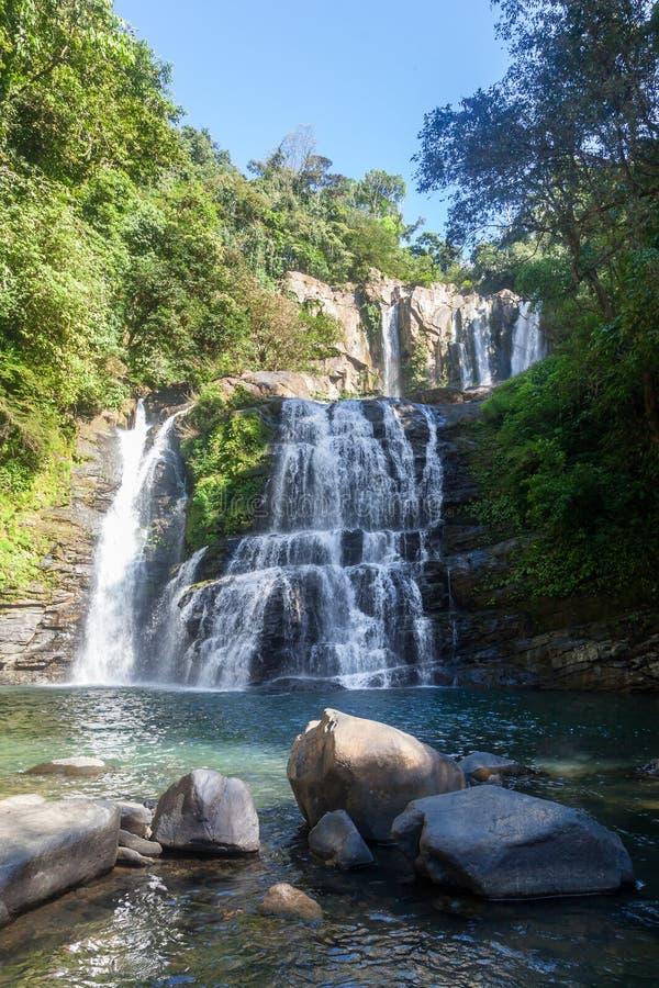 Nauyaca spadki, Costa Rica obraz stock