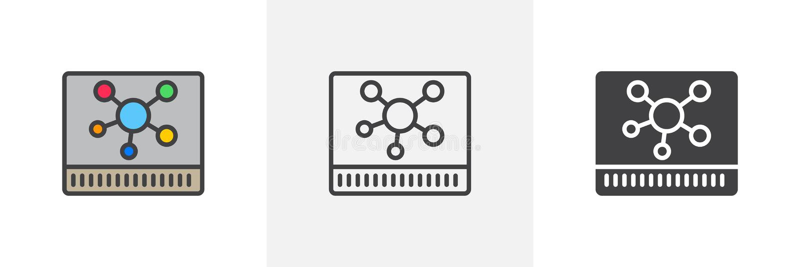 Nav maskinvarusymbol vektor illustrationer