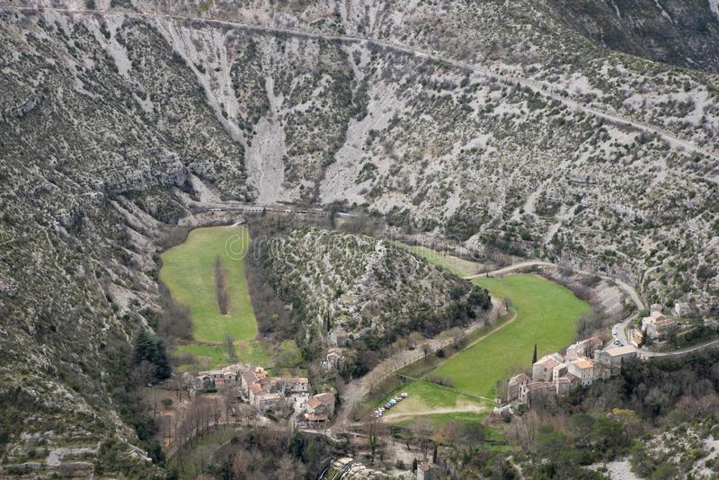 Navacelles natural circus in Hérault royalty free stock photography