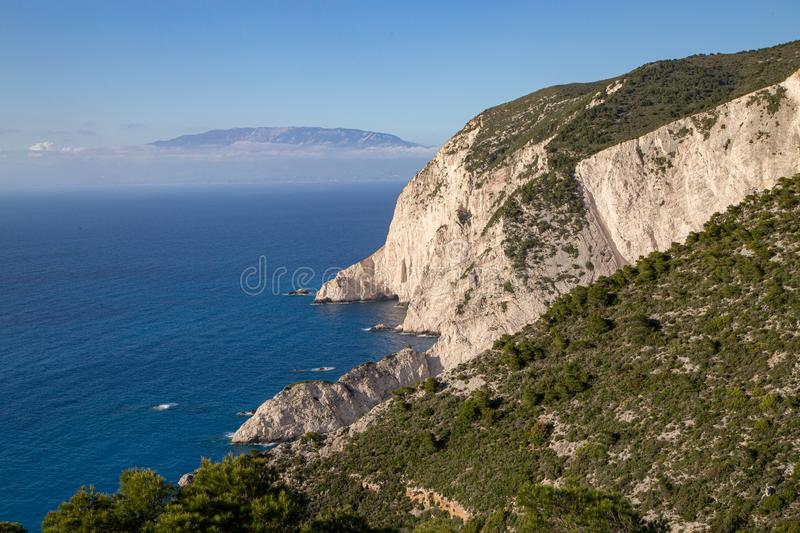 Navagio bay and Ship Wreck beach in summer. The most famous natural landmark of Zakynthos, Greek island stock images