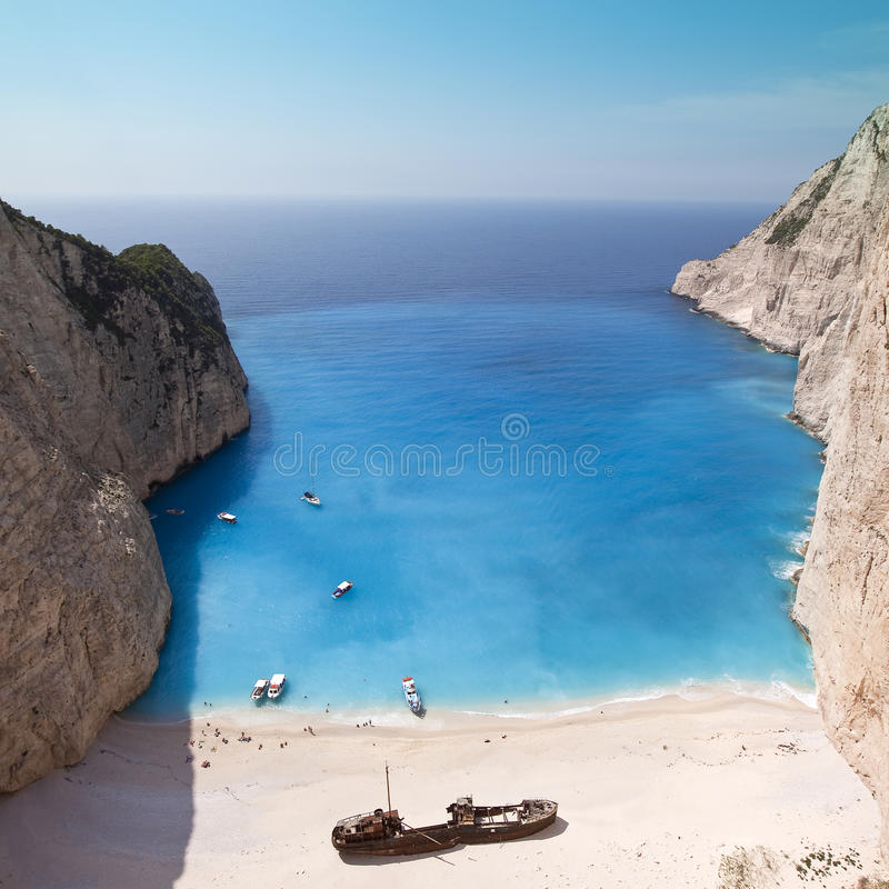 Download Navagio Beach Ionian Sea stock image. Image of mediterranean - 10021135
