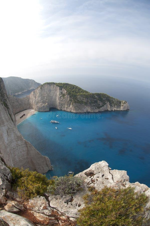Navagio Beach Ionian Sea stock photography