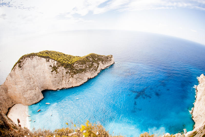 Navagio beach, Zakynthos royalty free stock photos