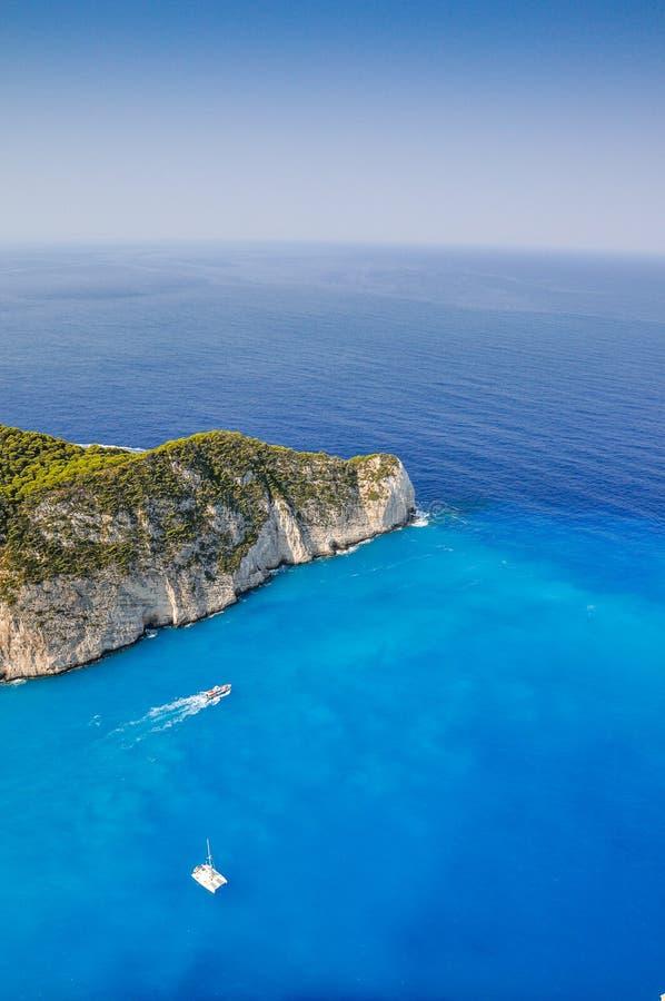 Navagio skeppsbrottstrand, Zakynthos, Grekland fotografering för bildbyråer