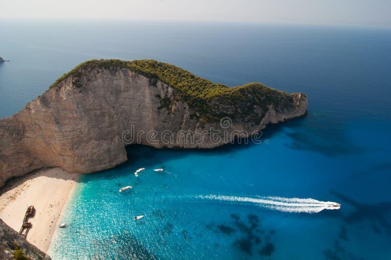 Navagio, Zakinthos, Griechenland lizenzfreies stockfoto