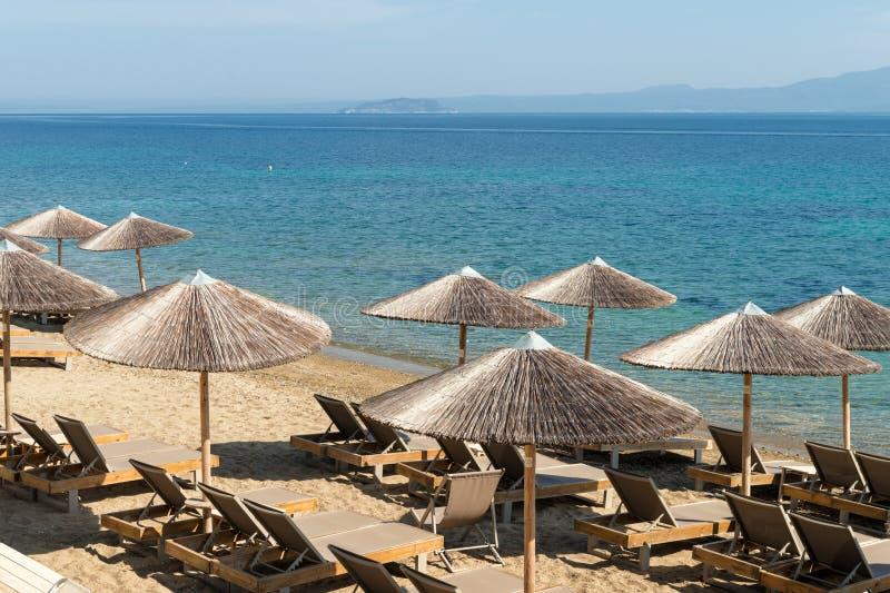 Navagos海滩,哈尔基季基州,希腊 免版税库存图片