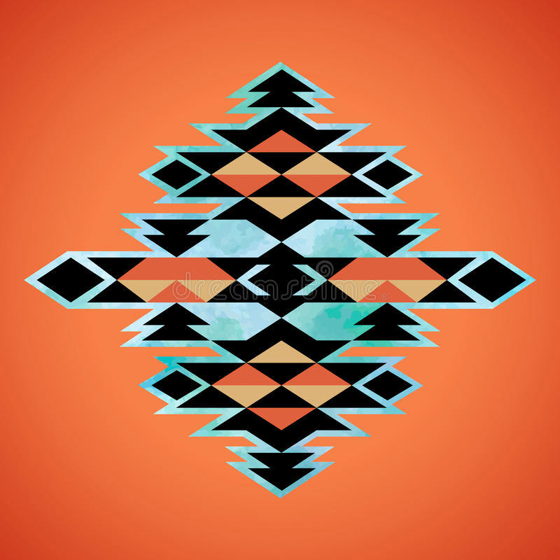 Navajo aztec textile inspiration pattern. Native american indian stock illustration